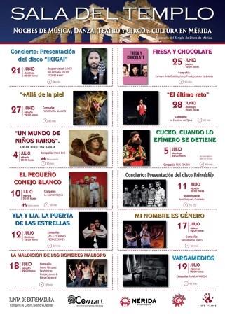 Mérida disfrutará el fin de semana de un concierto teatralizado de Chloé Bird y la diversión del payaso Cucko