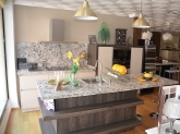 mobiliario del hogar en dos hermanas, Muebles de cocina y baños