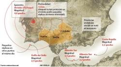 Un terremoto en Portugal hace temblar a Huelva, Sevilla y Córdoba