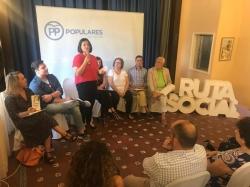 El Partido Popular mantiene un encuentro con 14 entidades nazarenas dentro de su Ruta Social