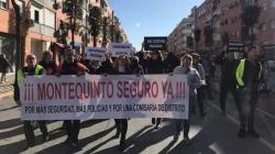 Los vecinos de Montequinto volvieron a manifestarse por una mayor seguridad en el barrio