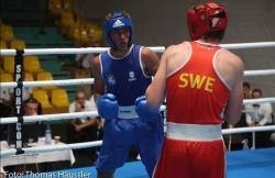 Rafael Acosta Heredia, en el Europeo Joven de boxeo