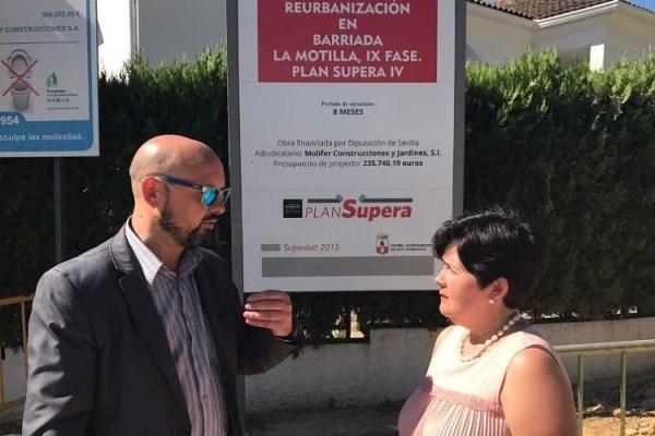 La Diputación revisa en Dos Hermanas las obras que se están llevando a cabo a cargo del Plan Supera