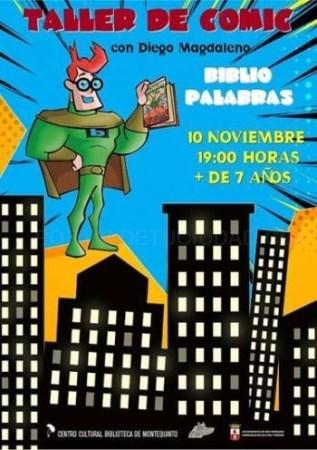 CICLO BIBLIOPALABRAS. TALLER DE CóMIC 'BOCADILLO DE PALABRAS'