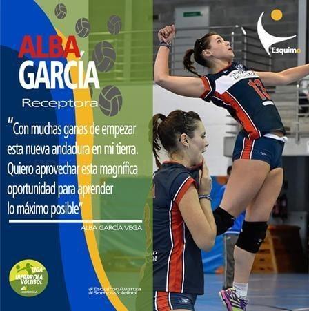 LA SEVILLANA ALBA GARCíA NUEVA INCORPORACIóN DEL CAJASOL JUVASA VOLEY 2018 .