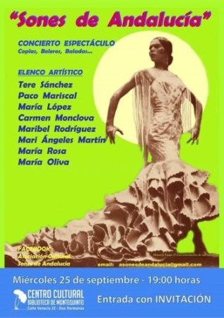 CONCIERTO DE COPLAS, BOLEROS Y BALADAS – A.C. SONES DE ANDALUCíA