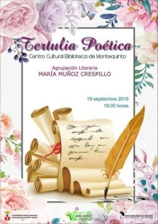 TERTULIA POéTICA. AGRUPACIóN LITERARIA Mª MUñOZ CRESPILLO