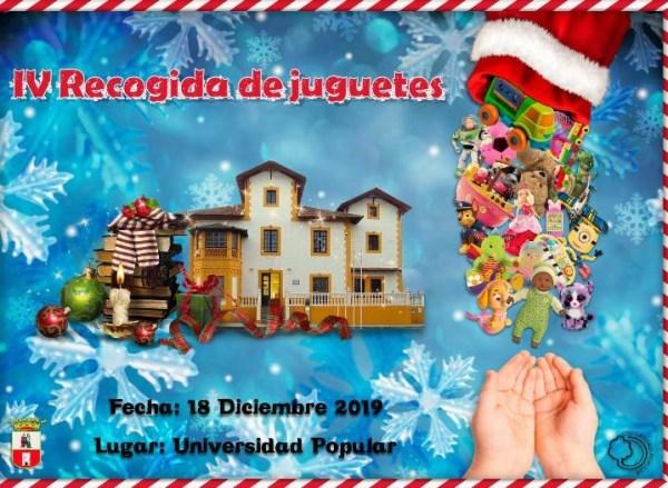 La Universidad Popular inicia la IV Recogida de Juguetes para Navidad