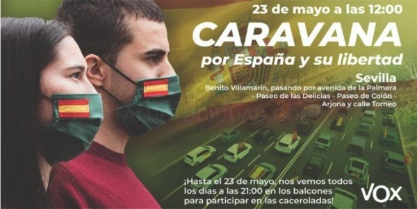 CARAVANA POR ESPAñA Y SU LIBERTAD, CONVOCADA POR VOX