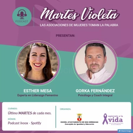 Podcasts para la difusión de los 'Martes Violeta' entre la población