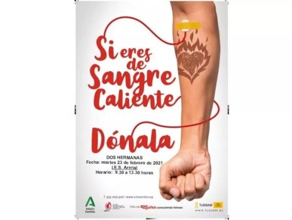 Campaña de donación de sangre en el IES El Arenal