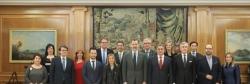 Ene 2017 Su Majestad el Rey recibe a los Alcaldes de las Ciudades Patrimonio de la Humanidad de España