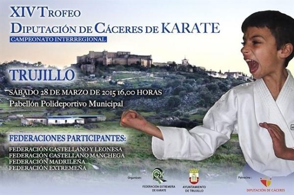 El XIV Trofeo Diputación de Cáceres de Kárate se celebra este sábado en Trujillo con más de 50 jóvenes