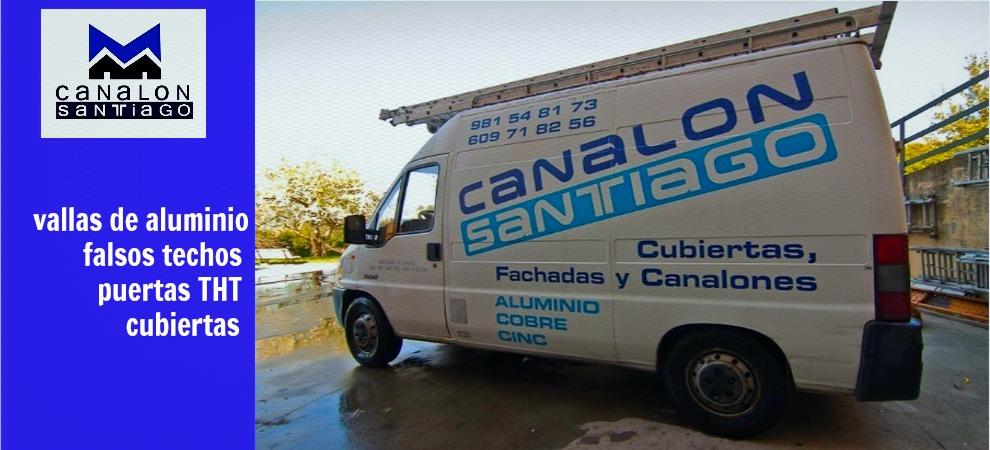 cierres y vallas en Santiago de Compostela. VALLAS DE ALUMINIO. LIMPIEZA DE CANALONES EN SANTIAGO.