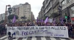Manifestacións en Santiago no 'Día da Muller'