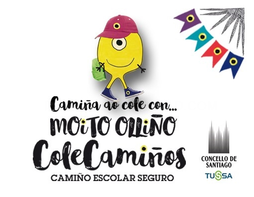Compostela fomenta que os nenos vaian camiñando ao colexio