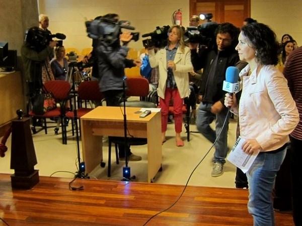 Gran expectación mediática en los juzgados de Santiago
