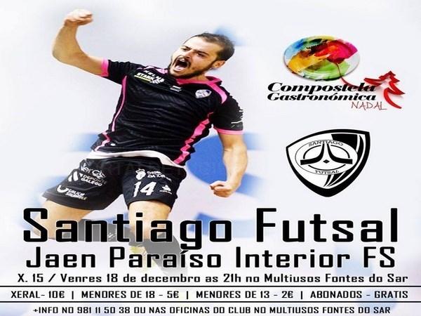 Máis de 60 clubs arroupan hoxe ao Santiago Futsal