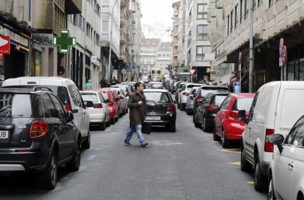 Hoxe comenzan os cortes de tráfico por obras na rúa Montero Ríos
