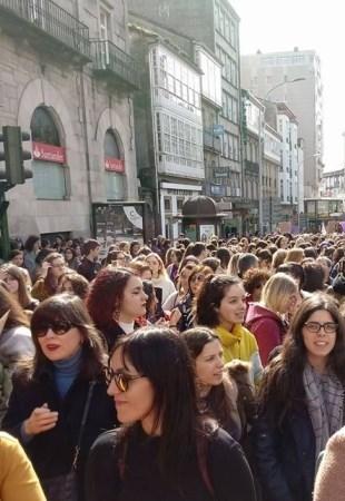 Histórica manifestación en Santiago