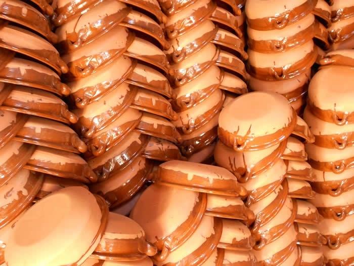 greixoneres en mallorca, macetas de barro, decoración cerámica