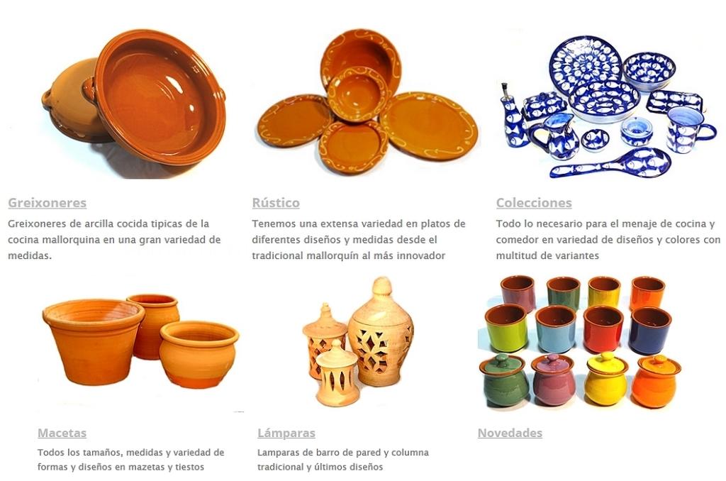 ollerias, ollas de barro, tinajas alfabies, macetas de barro, decoración cerámica