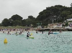 """El Real Club Náutico de Palma se impone en la """"3ª Copa Balear de kayak de mar"""" celebrada en el Club Nàutic Ciutadella"""