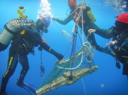 Recuperan del fondo marino de Baleares un cepo parte de un ancla de la época del Imperio Romano