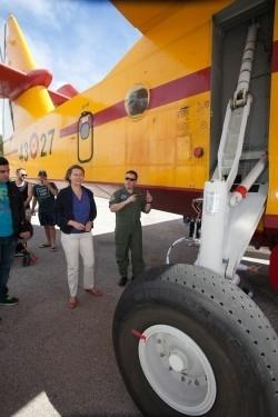 La presidenta María Salom asiste al III Encuentro Internacional de Hidroaviones de Mallorca en Pollença