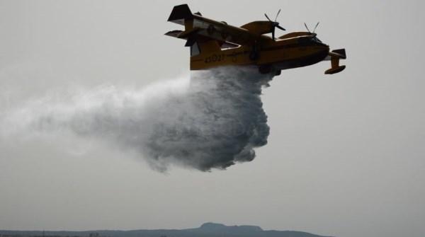 Activado el procedimiento de amerizaje de aviones anfibios en el simulacro realizado hoy en el Puerto de Palma