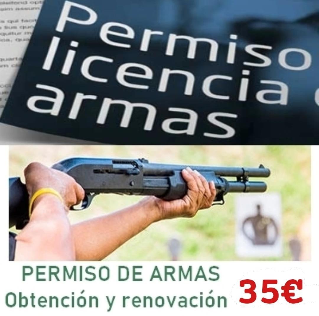 Obtención y renovación permisos de Armas