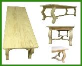 mesas comedor, sillas habitaciones