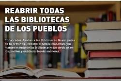 La Diputación destina 800.000 euros para reabrir todas las bibliotecas municipales de los pueblos