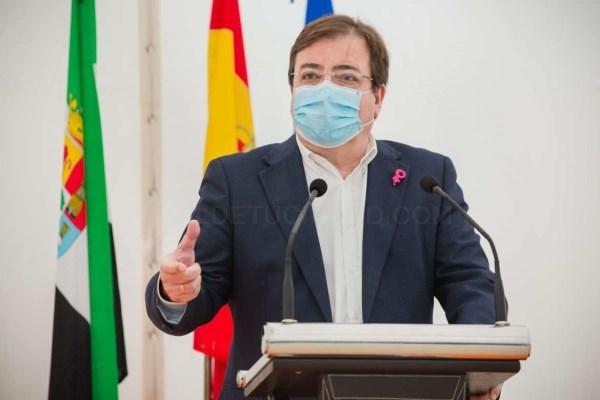 Fernández Vara resalta la apuesta de Extremadura por las energías renovables para la generación de riqueza y empleo