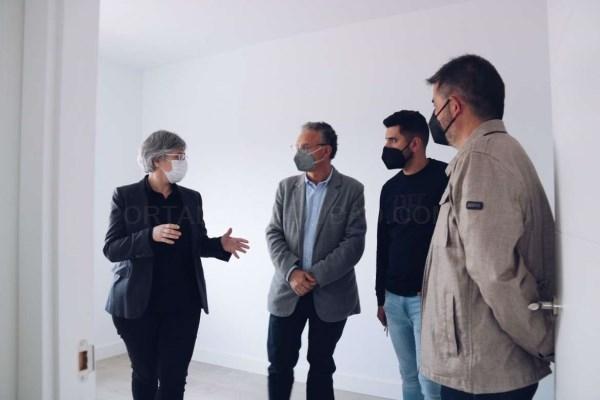Leire Iglesias subraya la apuesta de la Junta de Extremadura por las políticas activas de vivienda en Don Benito