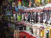 tienda de pesca en la linea, comprar, caña, pesca, submarina, aletas, escopeta,