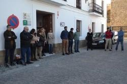 Tarifa: MINUTO DE SILENCIO POR LAS NUEVAS VÍCTIMAS DE LA INMIGRACIÓN EN AGUAS DEL ESTRECHO