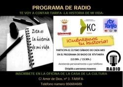 """Tarifa: KCTarifa vuelve este sábado con el espacio de radio """"La historia de mi vida"""", con el libro """"Recuerdos del Rincón de Yesca"""""""