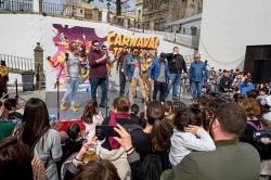 Tarifa: Imágenes de la Presentación de las Agrupaciones Carnavalescas en el Cinco de Oros