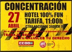 Tarifa: CCOO y UGT convocan una concentración a las puertas del 100% Fun