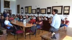 Tarifa: El alcalde de La Línea de la Concepción, Juan Franco,  y responsables de la empresa Recolte, han firmado esta mañana el contrato del proyecto
