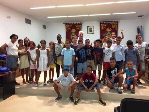 La Línea:  Recepción municipal a los niños saharauis y a las familias que los acogen en el Campo de Gibraltar