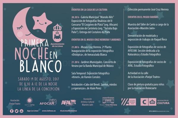 La Línea:  La Noche en Blanco se celebra este jueves, 24 de agosto