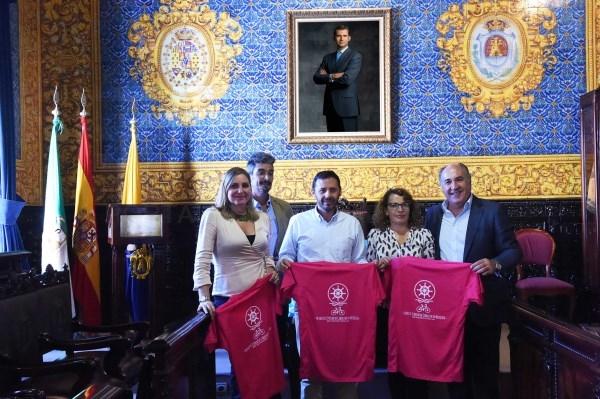 """ALGECIRAS: LOS ORGANIZADORES DE """"CRUZANDO EL ESTRECHO EN BICICLETA"""" AGRADECEN AL ALCALDE LA COLABORACIóN PRESTADA POR EL AYUNTAMIENTO"""