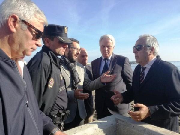 La Línea:  El alcalde y el subdelegado del Gobierno en Cádiz visitan las obras del Tonelero para obstaculizar la actividad del tráfico de drogas