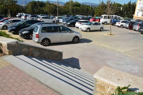 Algeciras:  Construyen una escalera desde la Plaza de Toros a los aparcamientos