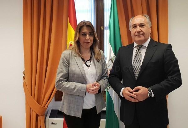 Algeciras: Landaluce ha mantenido un encuentro con Susana Díaz donde han tratado asuntos de importancia para Algeciras