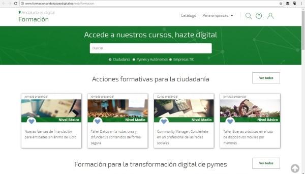 La Línea:  Andalucía Compromiso Digital abre su inscripción para realizar cursos de teleformación