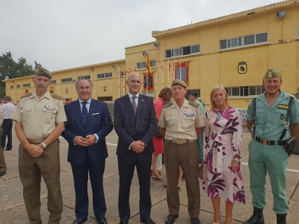 Algeciras: Landaluce felicita al Tercio 'Duque de Alba', 2º de la Legión, en su 98 aniversario fundacional
