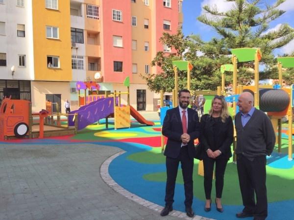 La Línea:  En la inauguración del parque infantil de La Velada el alcalde anuncia la instalación de mas zonas infantiles en barriadas para 2019